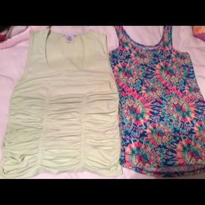 BUNDLE OF 2 tops . Lime by Laundry & colorful tank